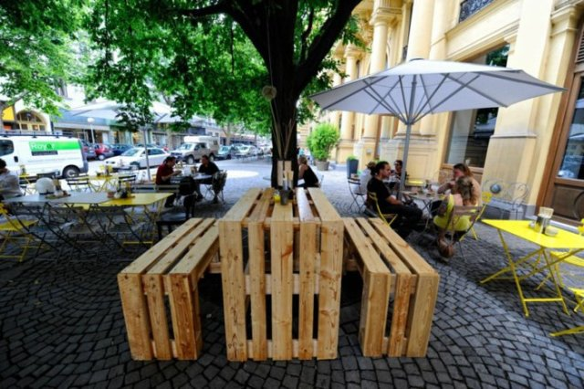 Ιδέες με ξύλινες παλέτες43