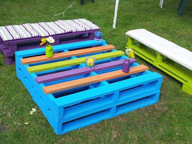 Ιδέες με ξύλινες παλέτες65