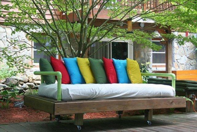 Ιδέες με ξύλινες παλέτες67