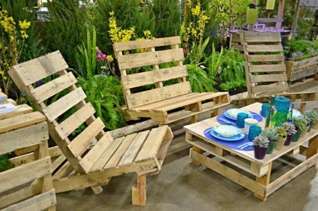Ιδέες με ξύλινες παλέτες7