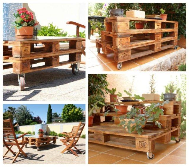 Ιδέες με ξύλινες παλέτες73