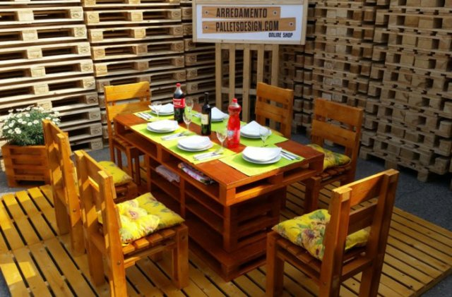 Ιδέες με ξύλινες παλέτες85