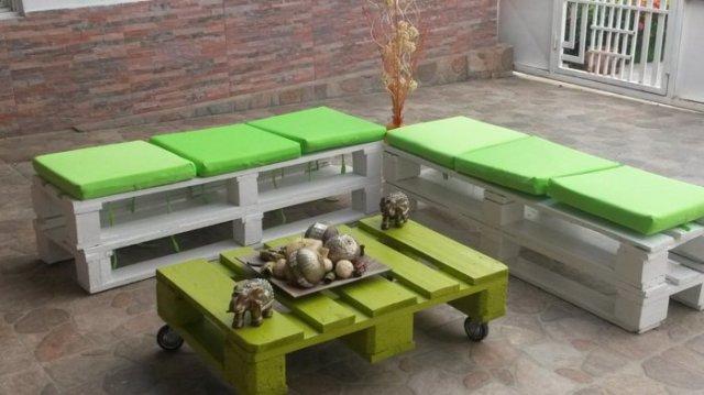 Ιδέες με ξύλινες παλέτες87