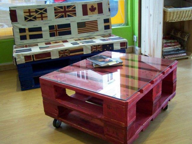 Ιδέες με ξύλινες παλέτες93
