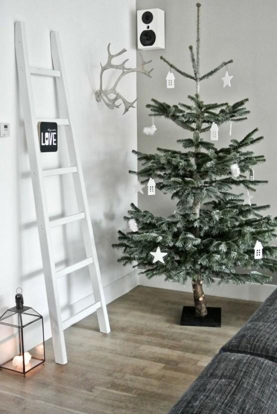 Μινιμαλιστικές ιδέες Χριστουγεννιάτικου δέντρου16