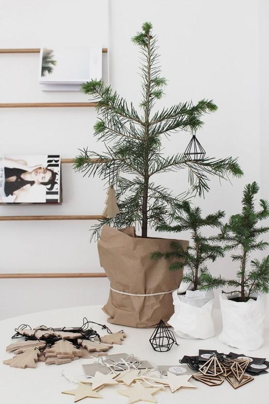 Μινιμαλιστικές ιδέες Χριστουγεννιάτικου δέντρου2