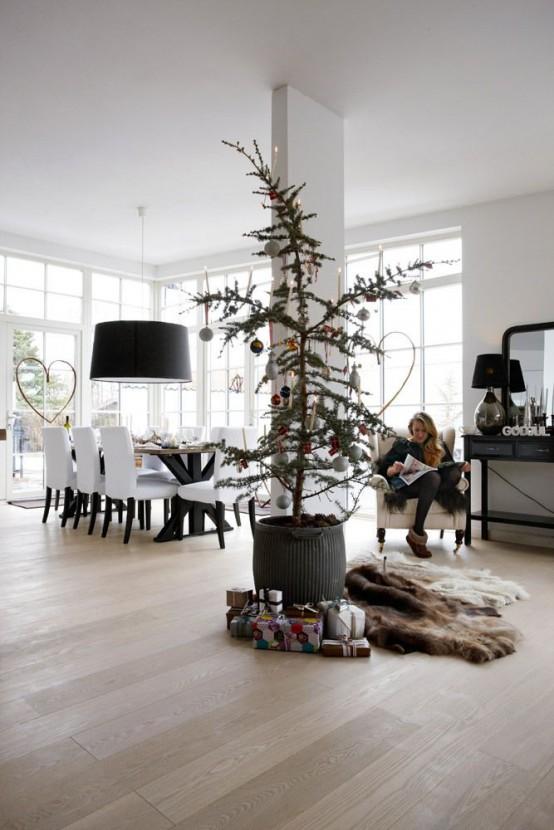 Μινιμαλιστικές ιδέες Χριστουγεννιάτικου δέντρου9