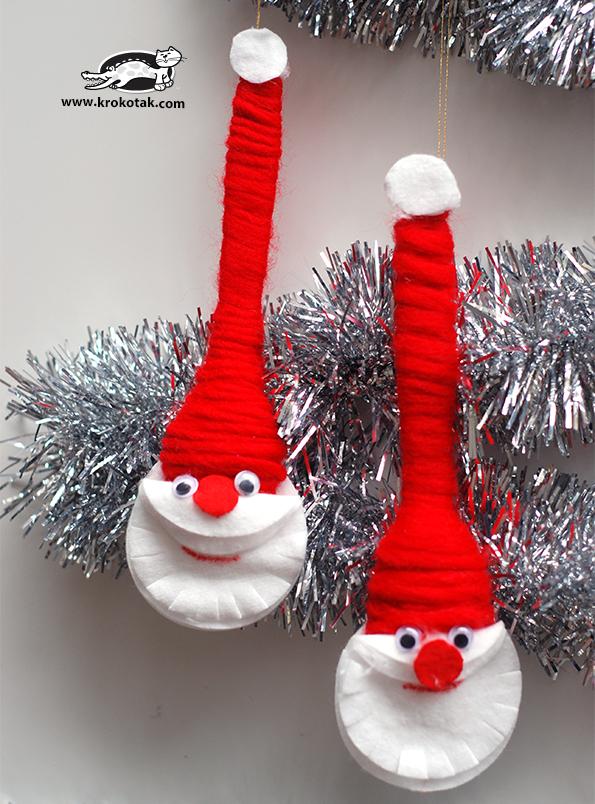 DIY - Χριστουγεννιάτικα στολίδια Άγιος Βασίλης1