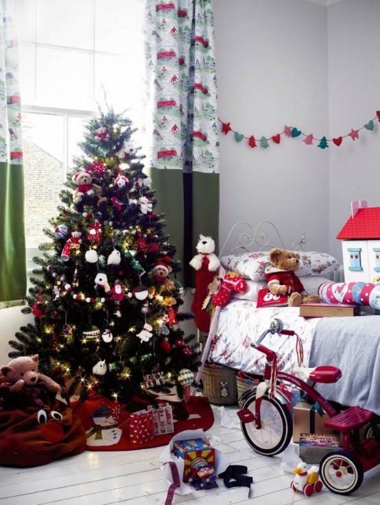 χριστουγεννιάτικες ιδέες διακόσμησης για τα δωμάτια των παιδιών7