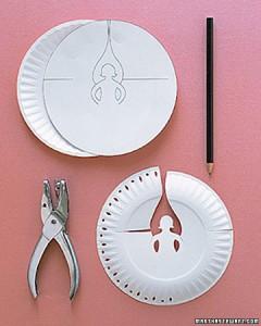 DIY Διακοσμητικοί Άγγελοι για το Χριστουγεννιάτικο τραπέζι από χάρτινα πιάτα3