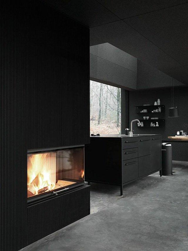 wall decoration ideas in dark shades28