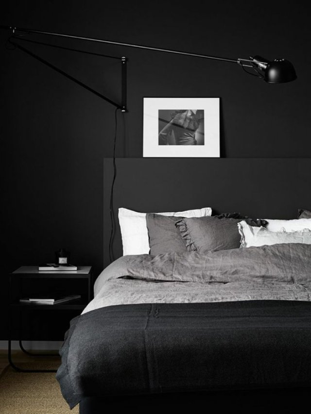 wall decoration ideas in dark shades43