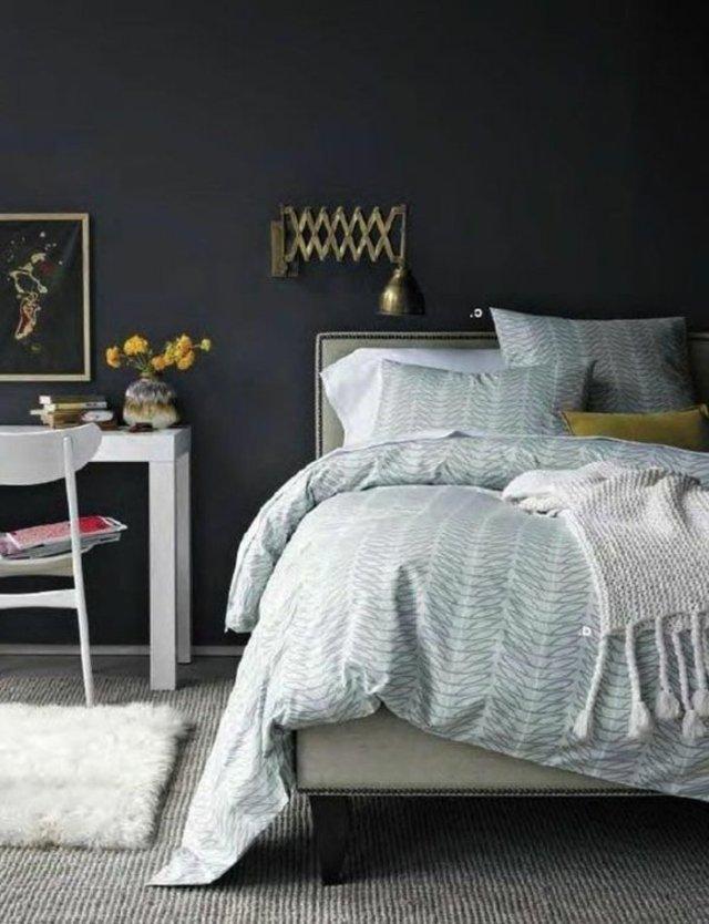 wall decoration ideas in dark shades48