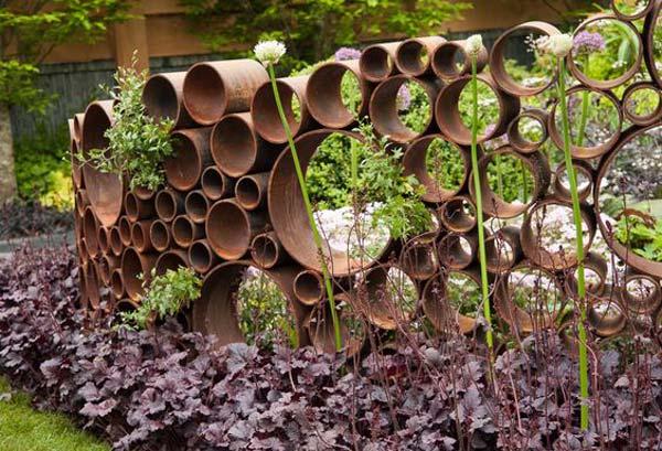 diy σκουριασμένα διακοσμητικά για τον κήπο15