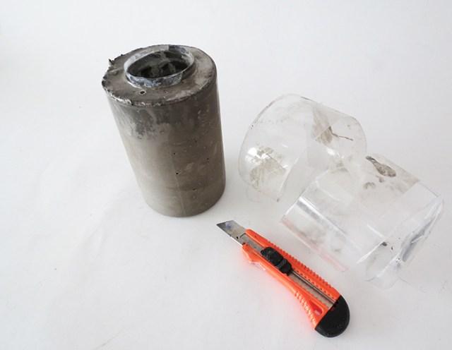 diy τσιμεντενιο βάζο6