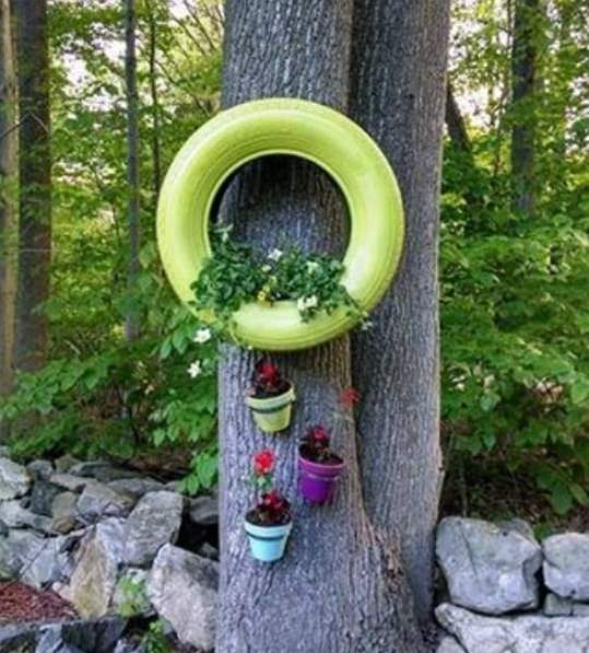 DIY ιδέες γλάστρας από οικιακά είδη13