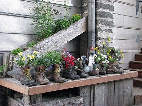 DIY ιδέες γλάστρας από οικιακά είδη17