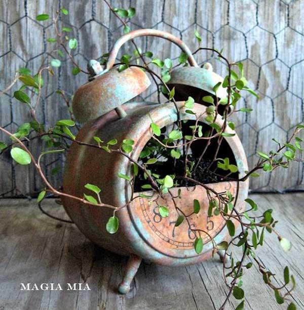 DIY ιδέες γλάστρας από οικιακά είδη26