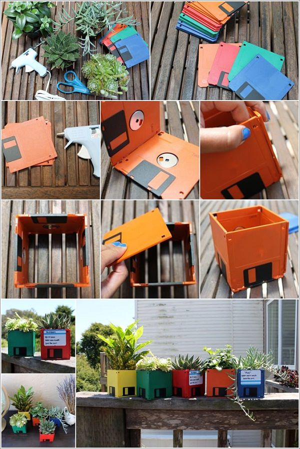 DIY ιδέες γλάστρας από οικιακά είδη28