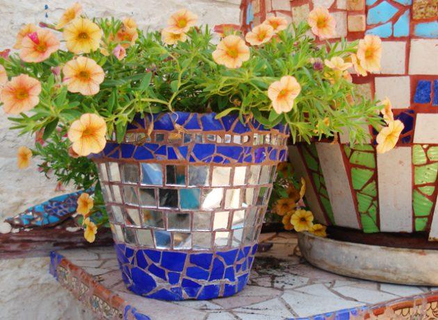 diy ψηφιδωτές διακοσμήσεις κήπου13