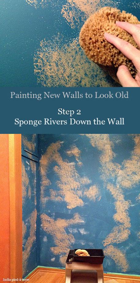 βαψετε ένα καινουργιο τοίχο για να φαίνεται παλιός6