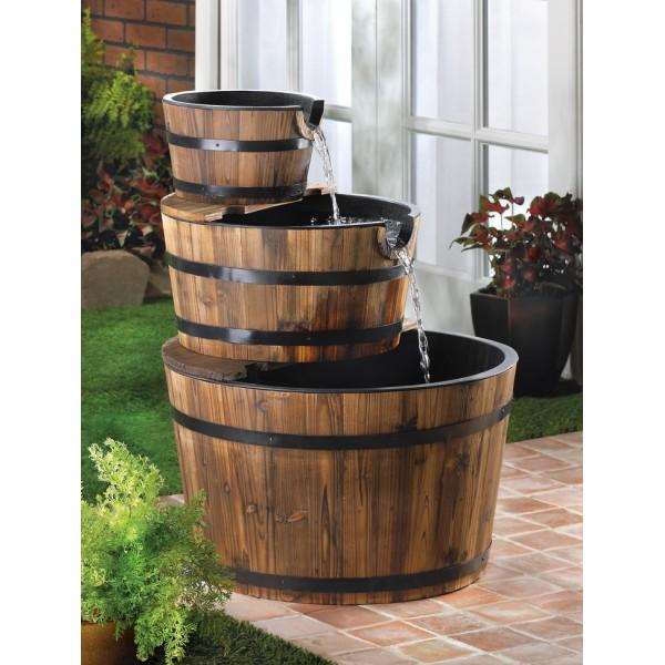 ξύλινα σιντριβάνια κήπου1
