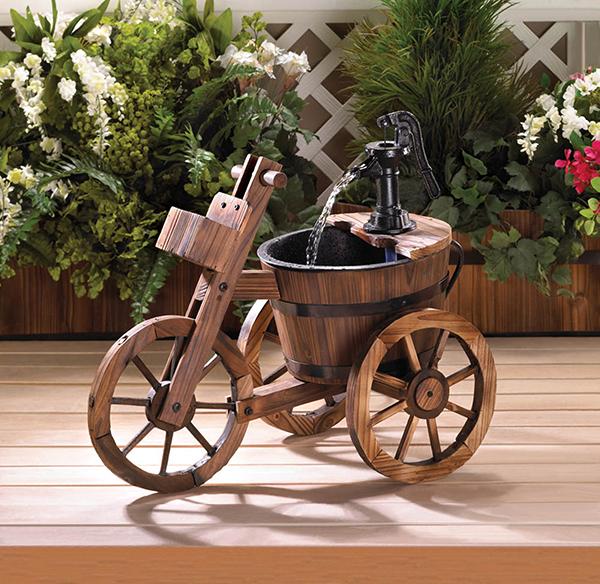 ξύλινα σιντριβάνια κήπου10