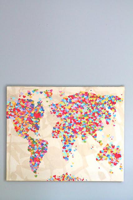 Diy United Colors of Love Παγκόσμιος Χάρτης12
