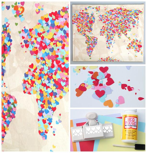 Diy United Colors of Love Παγκόσμιος Χάρτης2