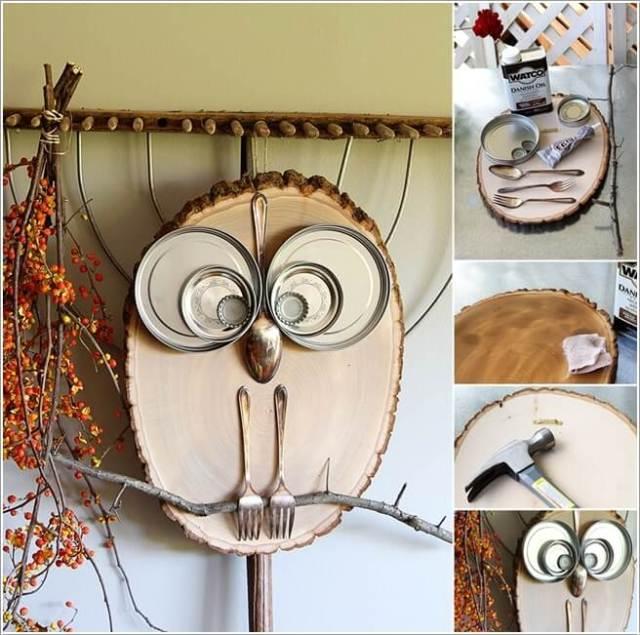diy ιδέες διακόσμησης τοίχου με φέτες ξύλου10