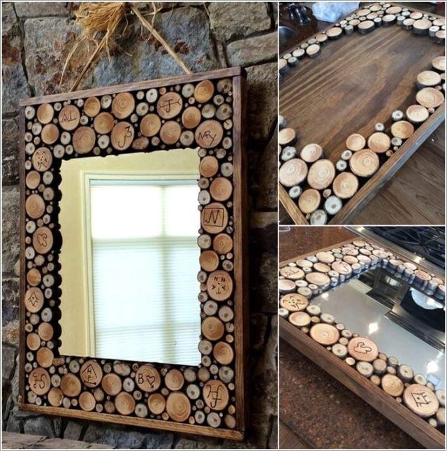 diy ιδέες διακόσμησης τοίχου με φέτες ξύλου8
