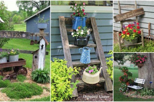 ιδέες χωριάτικης διακόσμησης κήπου