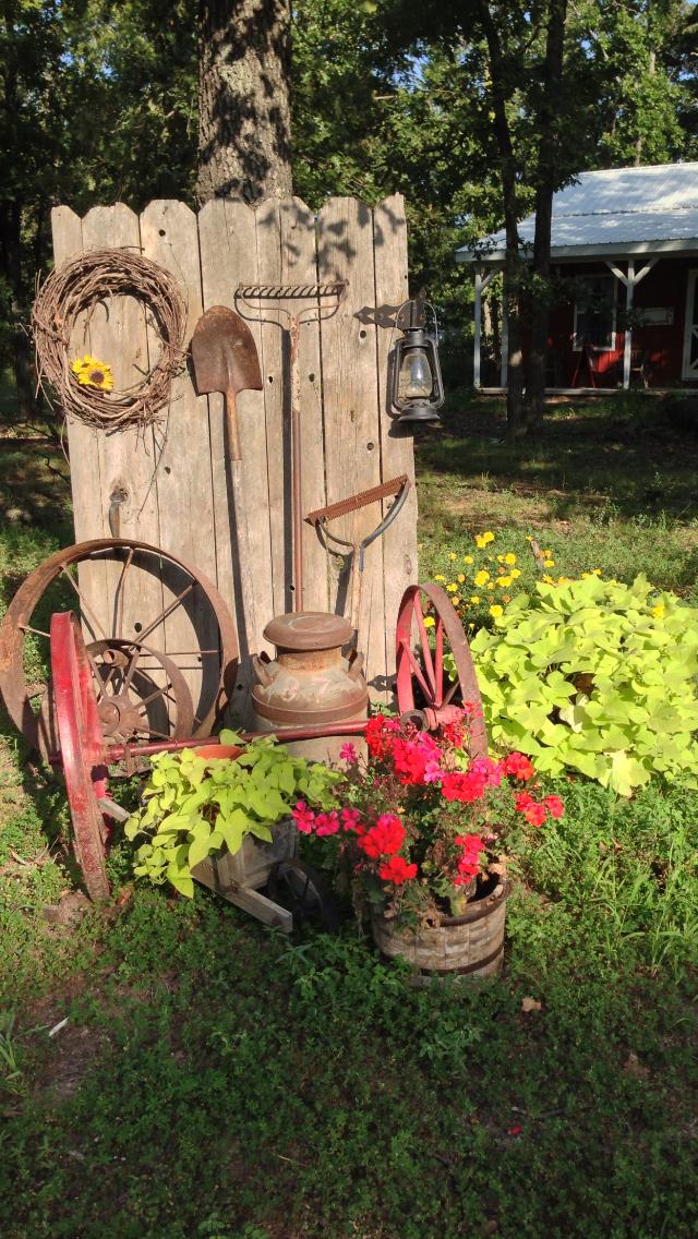 ιδέες χωριάτικης διακόσμησης κήπου3