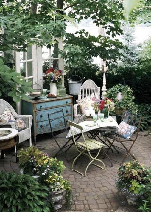 ιδέες χωριάτικης διακόσμησης κήπου9