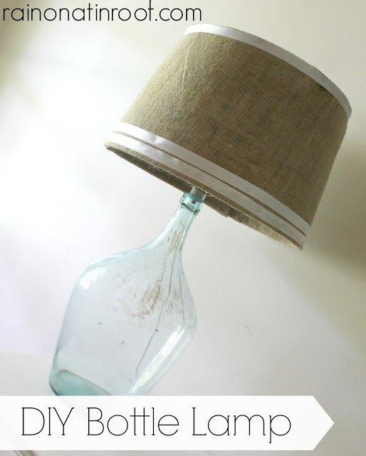 παλιά γυάλινα μπουκάλια σε απίθανα φωτιστικά21