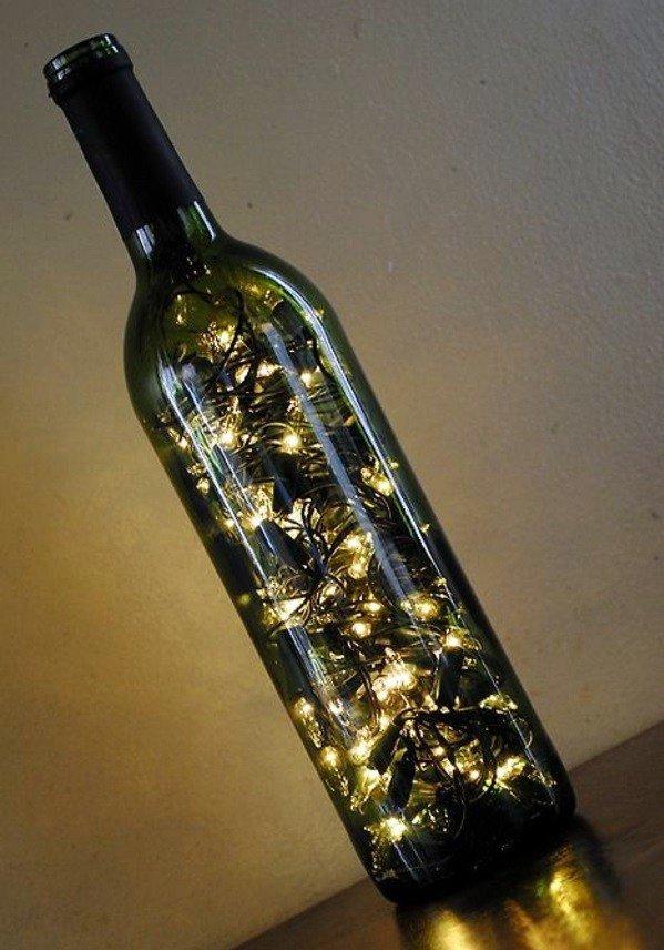παλιά γυάλινα μπουκάλια σε απίθανα φωτιστικά22