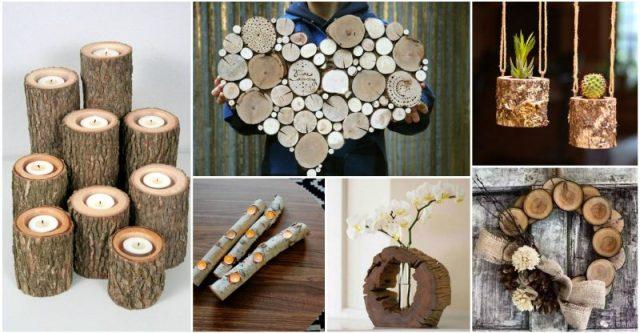 DIY έργα από κορμούς δέντρου
