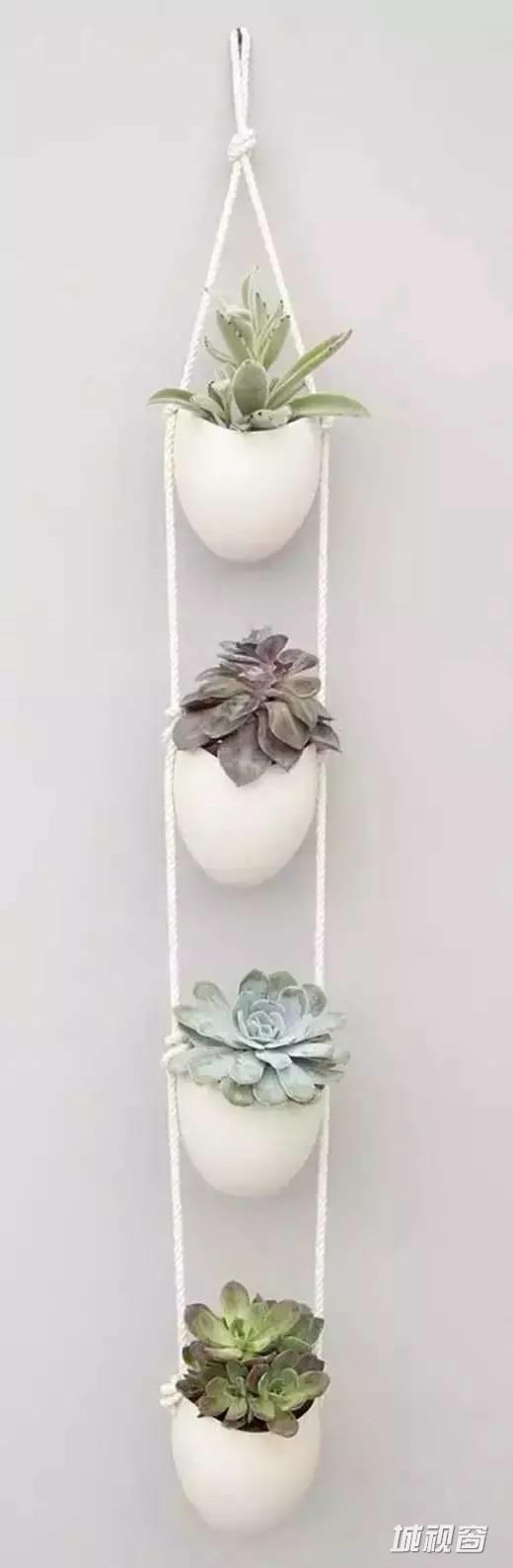 DIY γλάστρες από σχοινί8