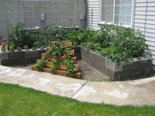 DIY ιδέες κήπου με μπλόκα5