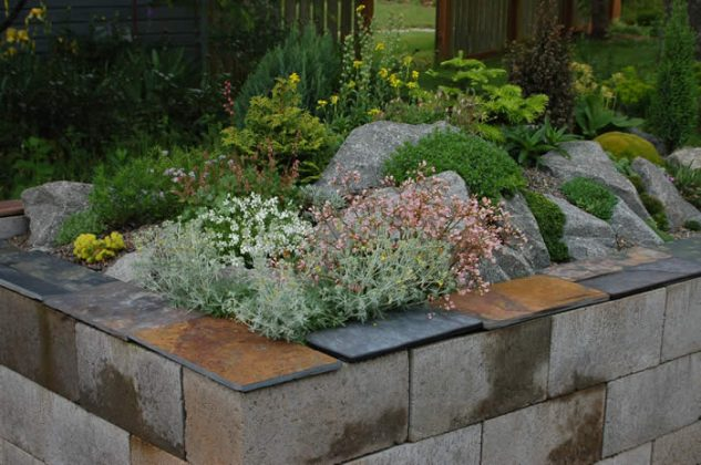 DIY ιδέες κήπου με μπλόκα8