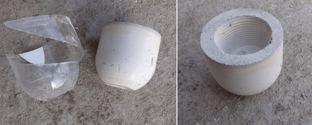 Μικρές DIY γλάστρες από τσιμέντο9