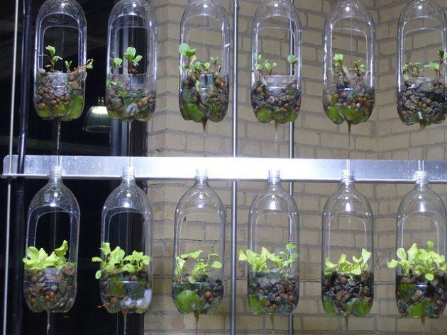 DIY γλάστρες από πλαστικά μπουκάλια14