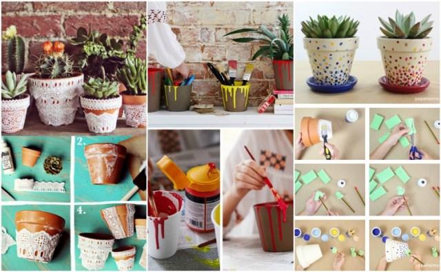 DIY ιδέες με γλάστρες