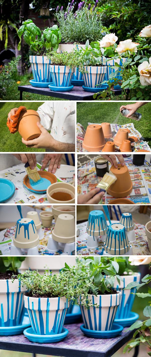 DIY ιδέες με γλάστρες2
