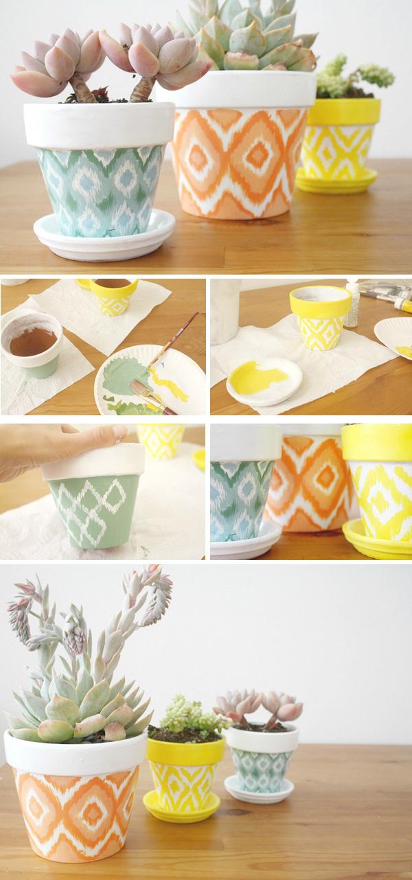 DIY ιδέες με γλάστρες23