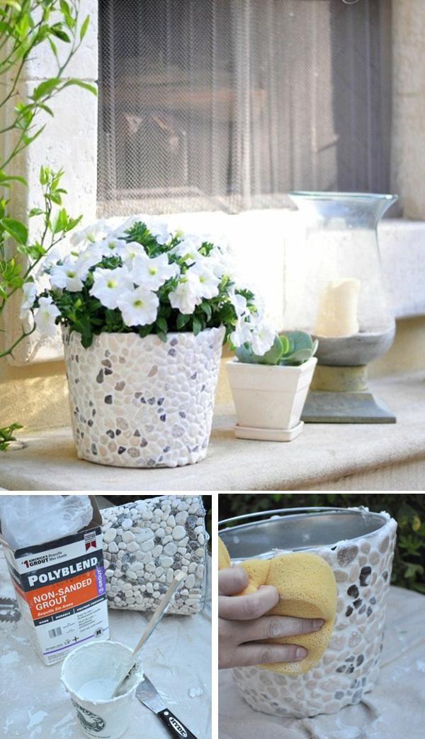 DIY ιδέες με γλάστρες5