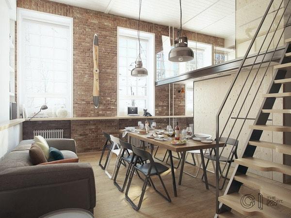 διακόσμηση τύπου loft2