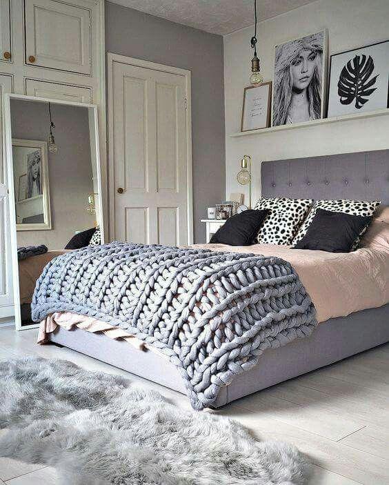 ιδέες διακόσμησης με κουβέρτες παχιάς πλέξης4