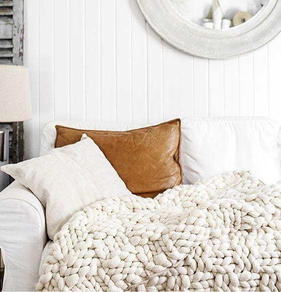 ιδέες διακόσμησης με κουβέρτες παχιάς πλέξης6