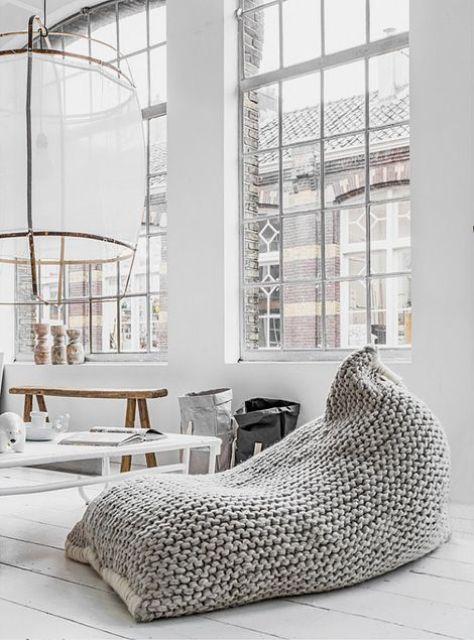 ιδέες διακόσμησης με κουβέρτες παχιάς πλέξης9